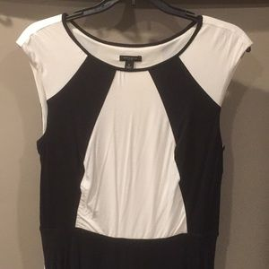 Black and white color block Ann Taylor dress